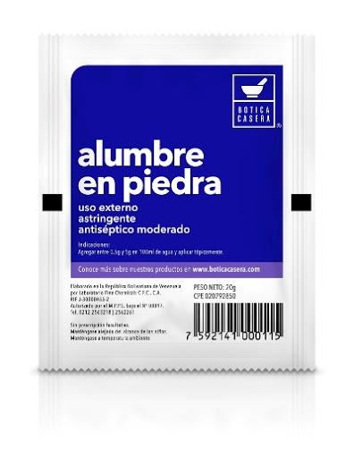 Alumbre piedra 20g Fine Chemicals ALUMBRE PIEDRA