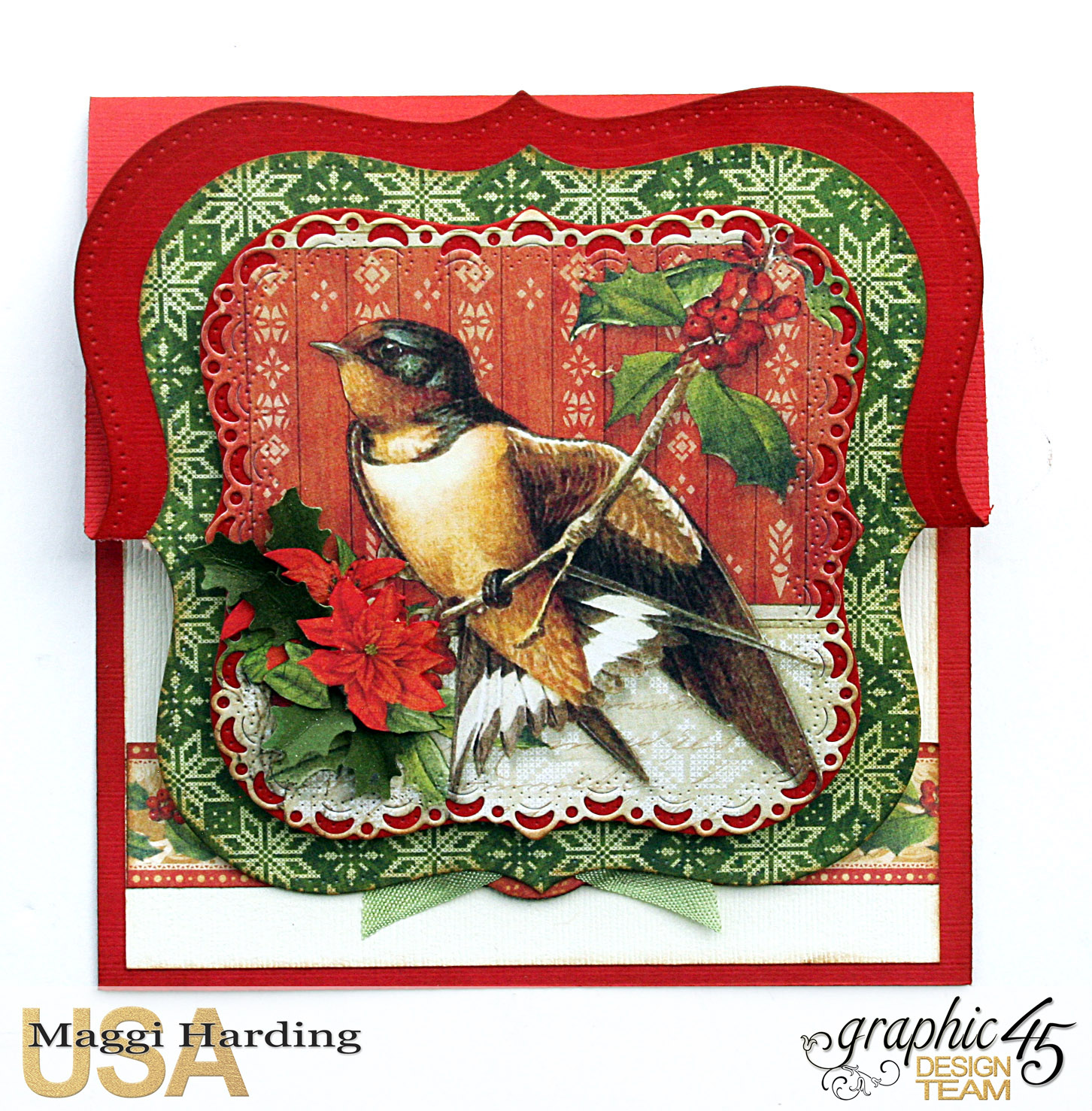 Easel Card, Winter Wonderland, Maggi Harding, Graphic 45 (3).jpg