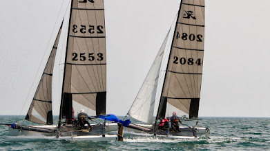 Photo: Water Rats Regatta - Hobie Tigers are still just as fast as any F18