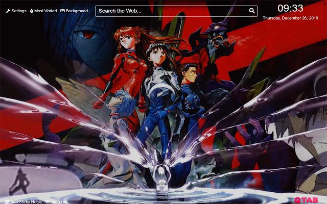 Neon Genesis Evangelion Wallpaper for New Tab