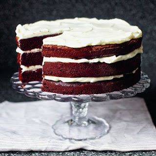 Red Wine Velvet Cake with Whipped Mascarpone Recipe