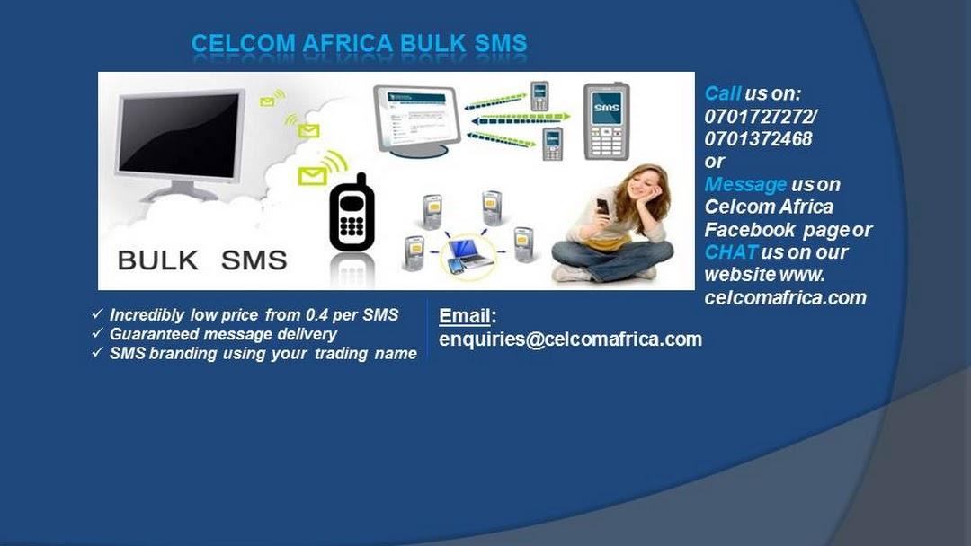 Cheap Bulk SMS Kenya   Celcom Africa Bulk SMS ltd - Software Company
