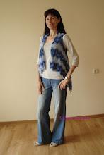Photo: женский вязаный жилет с запахом