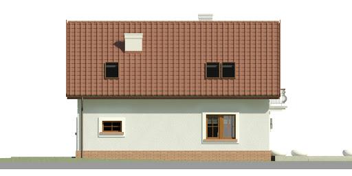 Dom przy Alabastrowej 32 - Elewacja tylna