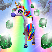 Royal Unicorn Runner: 3D Horse Run Dash attack