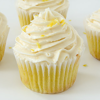 Vegan Lemon Cupcakes.