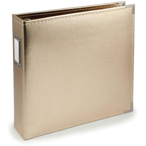 We R Memory Keepers Classic Leather D-Ring Album 12X12 - Gold