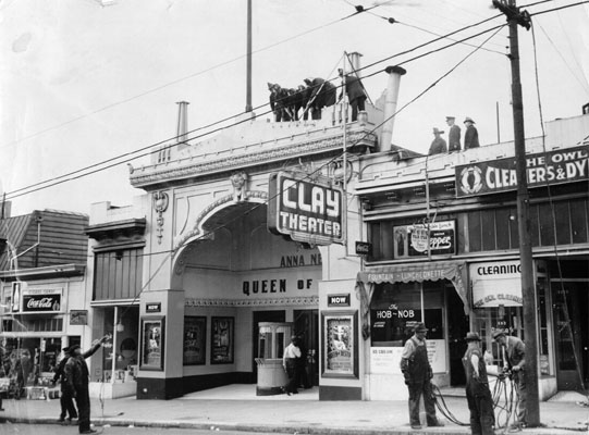 A 1940 picture of the Clay Theater in Pacific Heights. Photo: San Francisco Public Library.