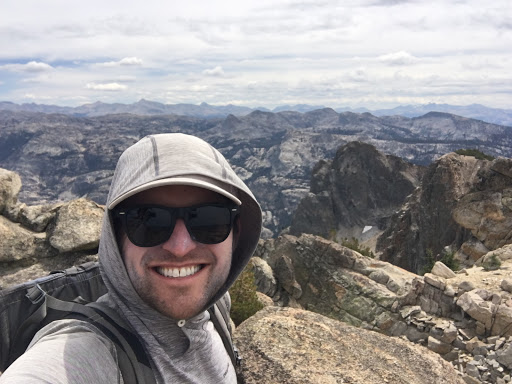 Ethan on summit of Piute Mountain looking south-east