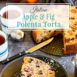 Italian Apple and Fig Polenta Torta.