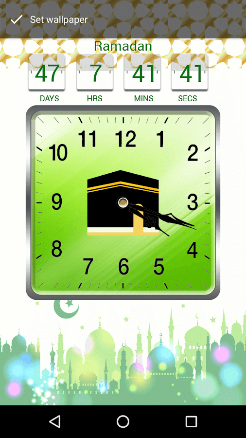 Islamic Live Clock Wallpaper & Date Countdown- screenshot
