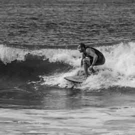 Surfing USA by Garry Chisholm - Black & White Sports ( usa, surfing, water, wave, sea, garry chisholm )