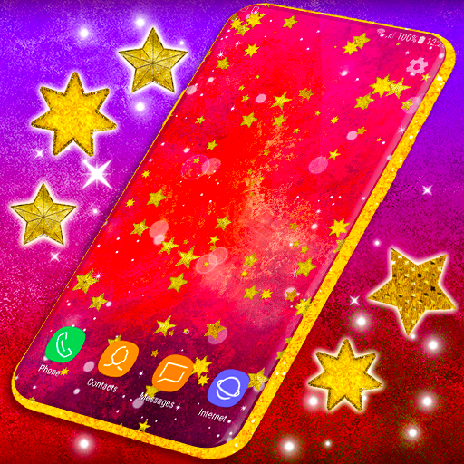 Gold Stars Live Wallpaper Sparkling Wallpapers Apps On Google Play