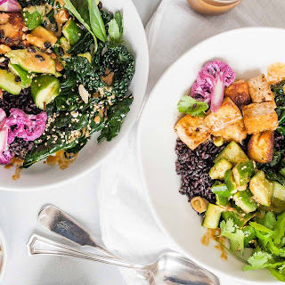 Black Rice Bowls with Tofu and Veggies Recipe