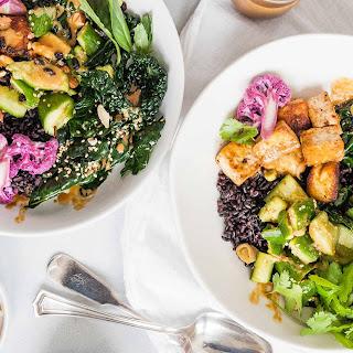 Black Rice Bowls with Tofu and Veggies.