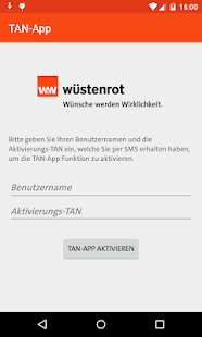 mein.wüstenrot TAN-App- screenshot thumbnail