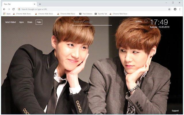 BTS Suga & J Hope Wallpapers Sope New Tab