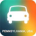 Pennsylvania, USA GPS icon
