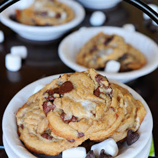 Soft and Chewy Fluffernutter Cookies.