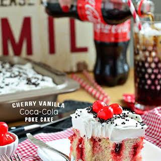 Vanilla Cherry Coke Poke Cake  Football Party Food.