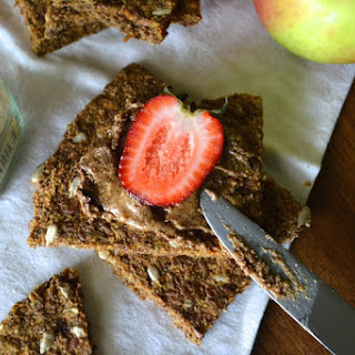 "Gluten-free, Raw Cinnamon Apple ""Toast"""