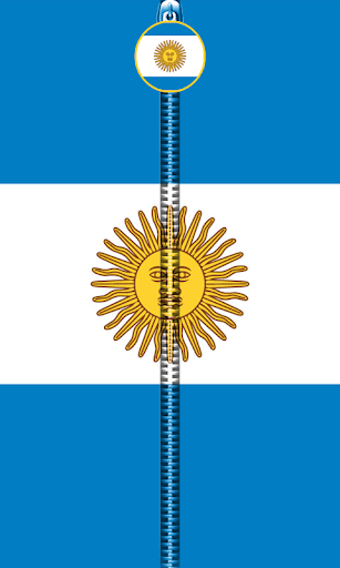 Argentina Flag Zipper UnLock