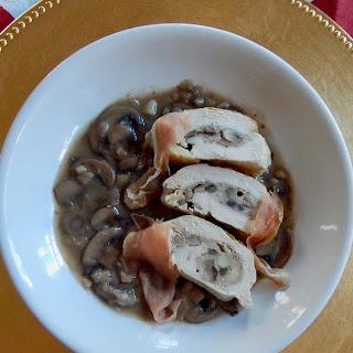 Mushroom & Prosciutto Stuffed Chicken.