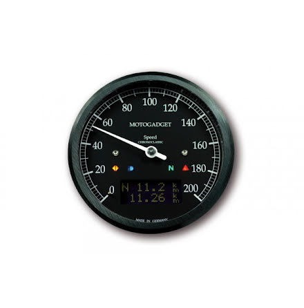 motogadget Speedometer Chronoclassic speedo Dark Edition