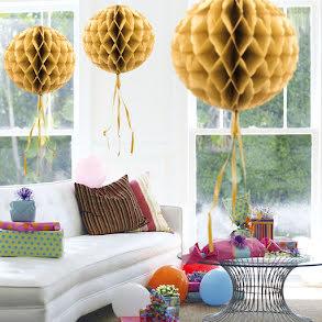 Dekorationsboll, guld