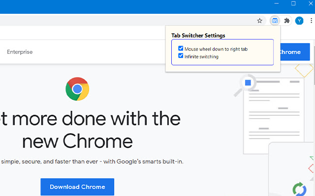 Tab Switcher with Wheel