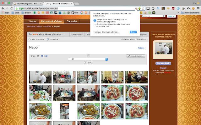 shutterfly exporter chrome web store