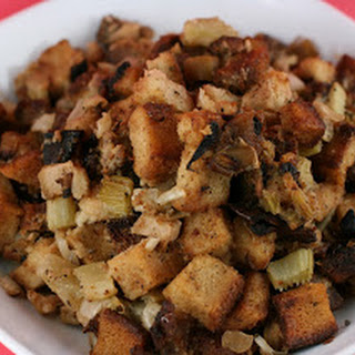 Slow Cooker Stuffing with Apple and Sausage.