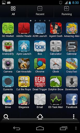 Metal Free(APEX NOVA GO THEME) 1.5.0 screenshots 4