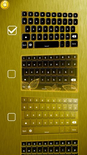 金 鍵盤主題