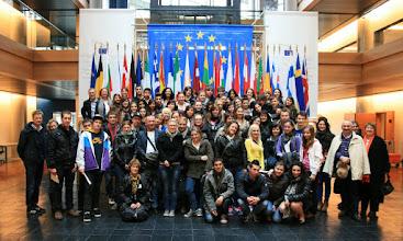 Photo: Tots els alumnes  i professors dels sis països participants al Comenius