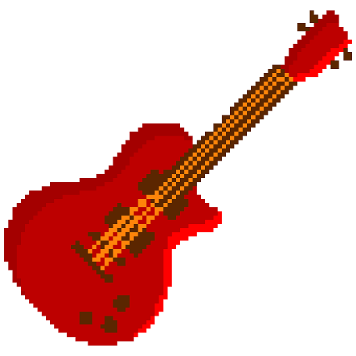 Musical Instruments Pixel Art - Color by Number Icon