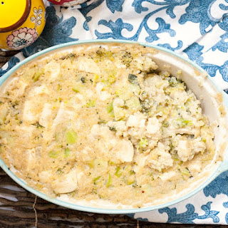 Healthy Chicken, Quinoa & Broccoli Casserole.