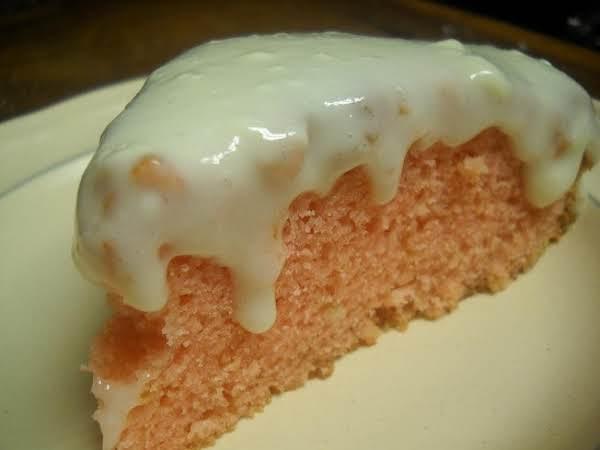 Simple Strawberry Sweet Cake With Sour Cream Glaze