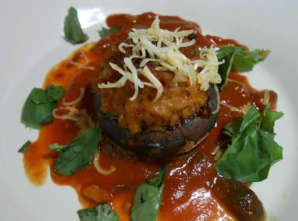 Mushrooms, Sausage & Cheese Stuffed, Baked