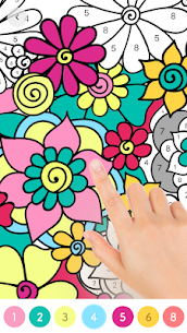 Paint.ly Color by Number – Fun Coloring Art Book 7