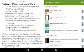 Screenshot of NLT Bible+ by Olive Tree