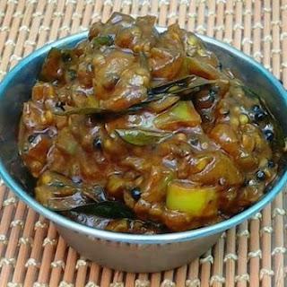 Eggplant Tangy Pickle (Kathirikkai/Brinjal Puli Thokku)