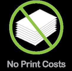 No Print Costs