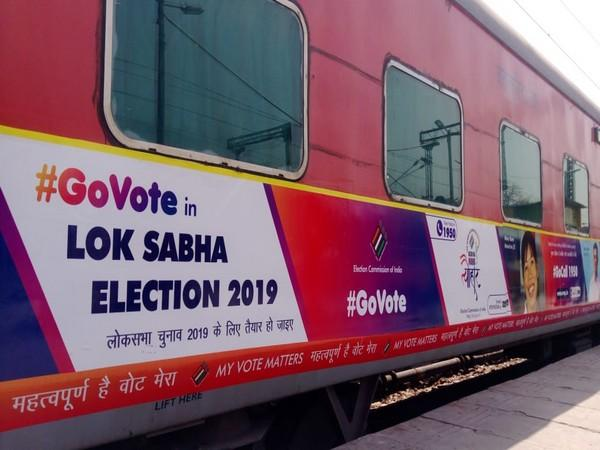 Image result for Indian Railways for Voter Awareness Campaign