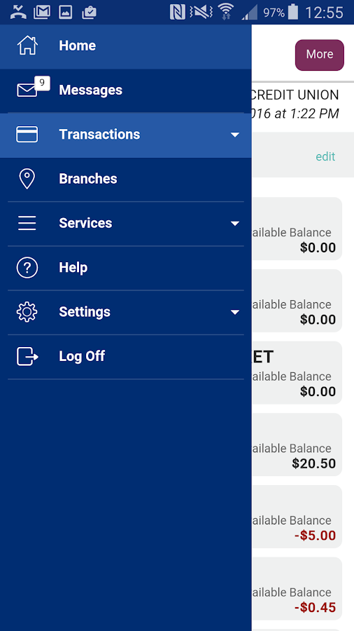Infuze Credit Union- screenshot