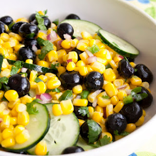 Corn and Blueberry Salad.