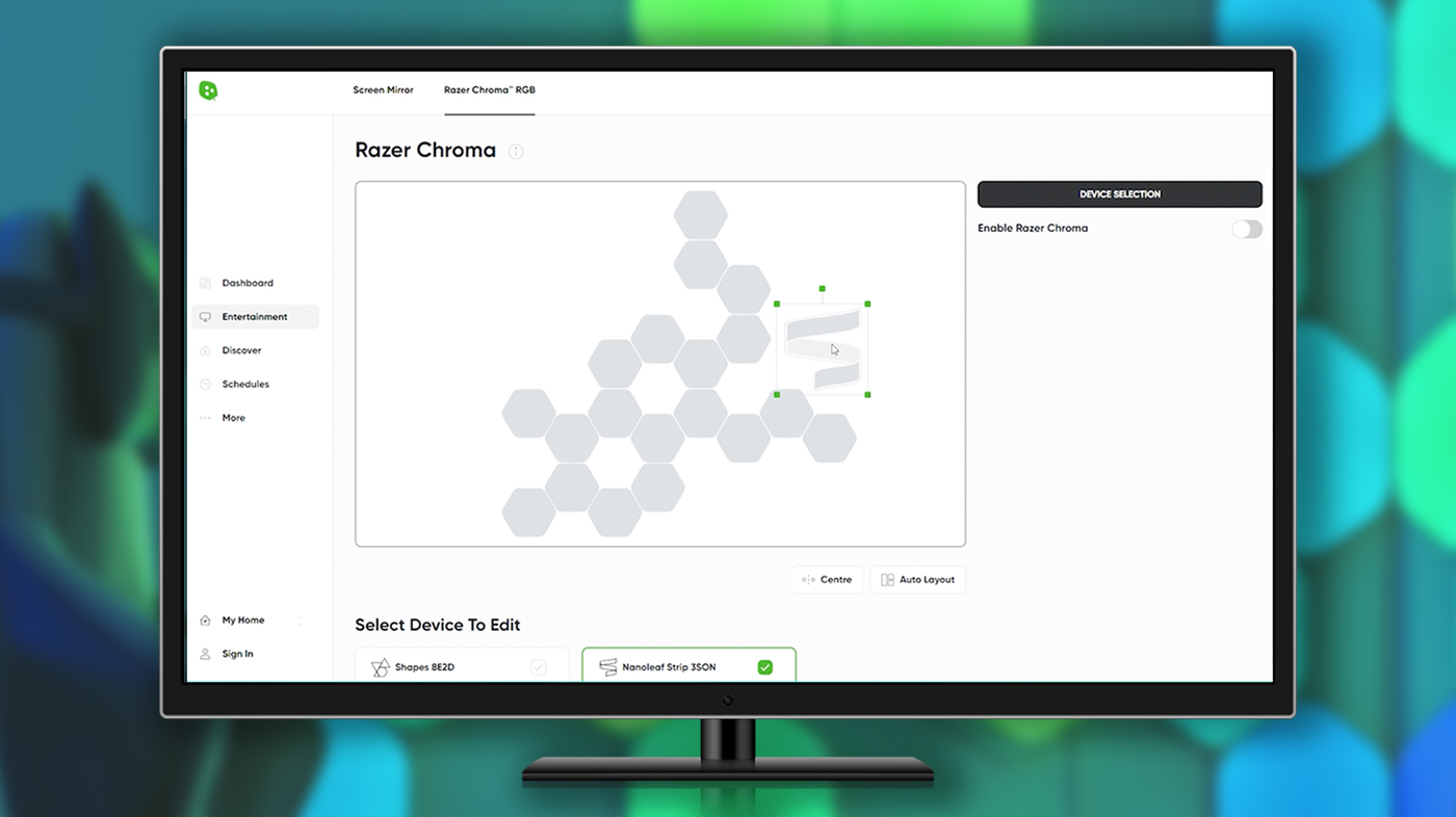 Nanoleaf Desktop App with Razer Chroma Integration