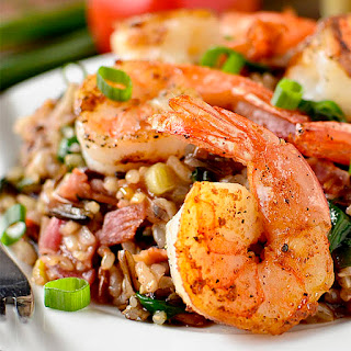 Shrimp and Wild Rice Skillet