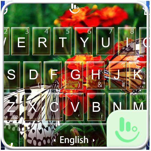 Butterfly Flower Keyboard Theme