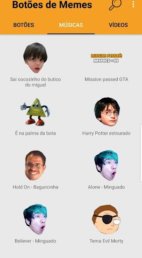 Botões de Meme